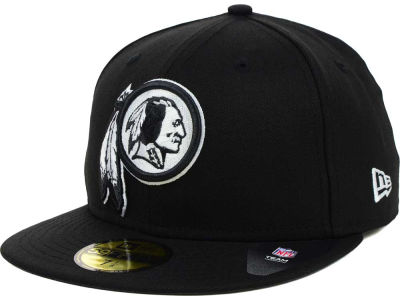 Washington Redskins New Era NFL Black And White 59FIFTY Cap