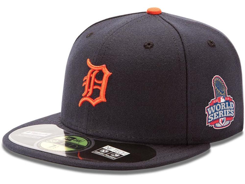 34852e2fec548 ... Detroit Tigers New Era MLB 2012 World Series Patch 59FIFTY Cap ...