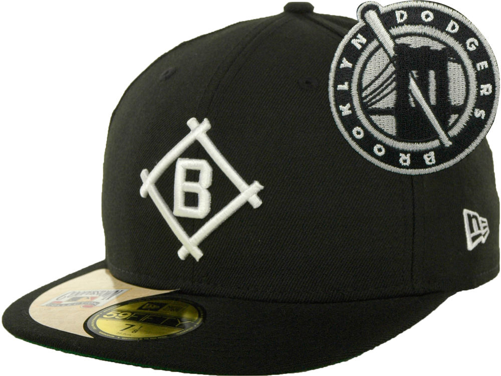 89633b2562596 ... best price brooklyn dodgers new era mlb cooperstown patch 59fifty cap  3ac0e c6a56
