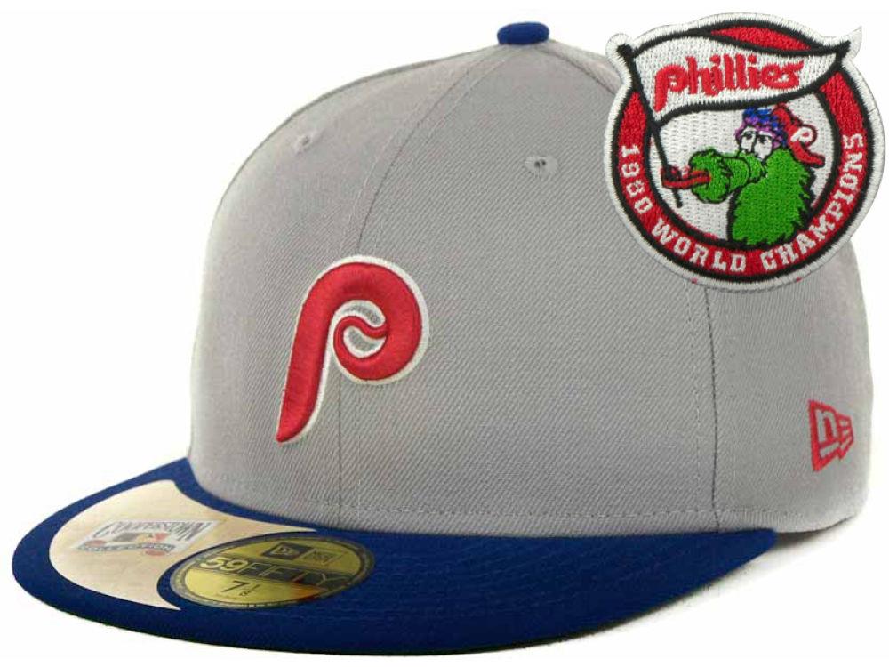 Philadelphia Phillies New Era MLB Cooperstown Patch 59FIFTY Cap ... 337686e08f9