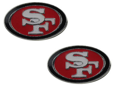 San Francisco 49ers Logo Post Earrings