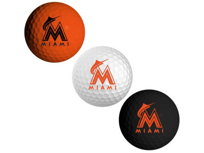 Miami Marlins 3-pack Golf Ball Set