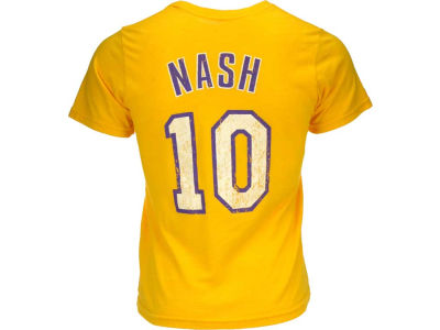 Los Angeles Lakers Steve Nash NBA Triblend  Vintage Player T-Shirt