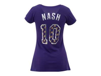 Los Angeles Lakers Steve Nash NBA Womens Premium Vneck Player T-Shirt