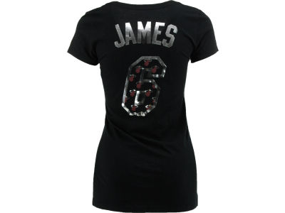Miami Heat LeBron James NBA Womens Premium Vneck Player T-Shirt