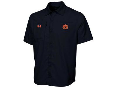 Auburn Tigers NCAA Men's Fishing Woven Button Up Shirt
