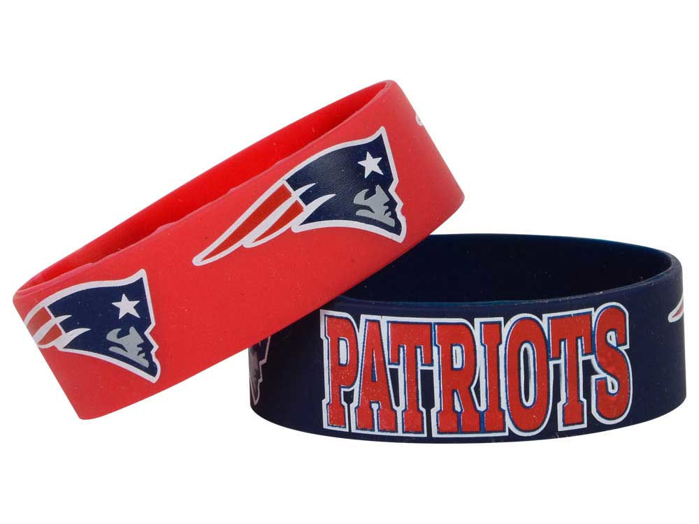 New England Patriots 2 Pack Wide Bracelet