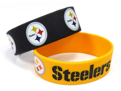 Pittsburgh Steelers 2-pack Wide Bracelet