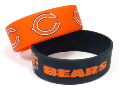 Chicago Bears 2-pack Wide Bracelet