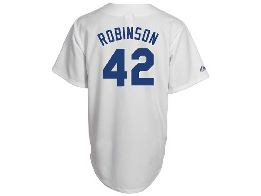 7d93bfb4e Brooklyn Dodgers Jackie Robinson MLB Cooperstown Throwback Fan Replica  Jersey
