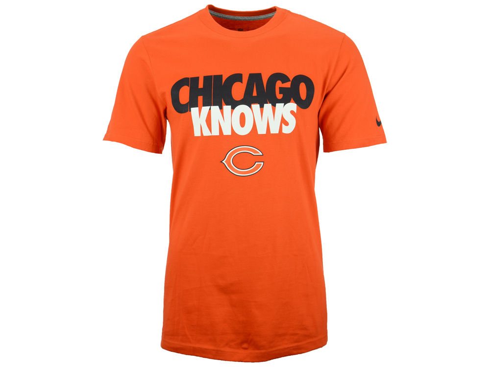 Nike Chicago Bears Knows Men's NFL Tee Shirt
