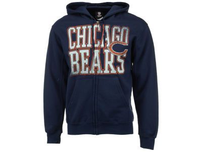 Chicago Bears NFL Men's Touchback Full-Zip Hooded Sweatshirt