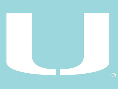 "Miami Hurricanes Die Cut Decal 8""x8"""
