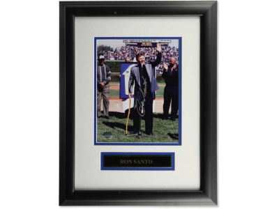 Chicago Cubs Ron Santo Ron Santo Framed Jersey Retirement Signed 8x10 Photograph