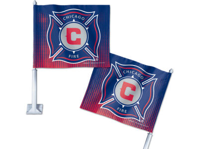 Chicago Fire Car Flag