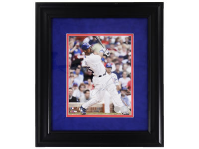 Chicago Cubs Derrek Lee Autographed Hitting 8x10 Framed Photo