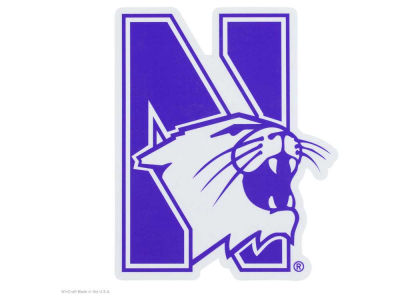 Northwestern Wildcats Die Cut Color Decal 8in X 8in