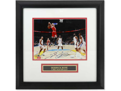 Chicago Bulls Derrick Rose Derrick Rose Framed Autographed 8x10 Photo