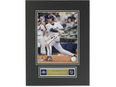 Milwaukee Brewers J. J. Hardy MLB Black Matted 8x10 Photo