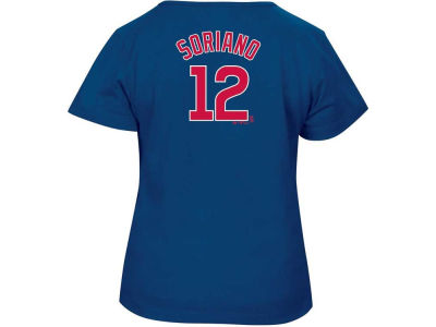 Chicago Cubs MLB Women's Name and Number Cap Sleeve T-Shirt
