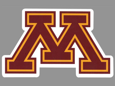 Minnesota Golden Gophers Die Cut Color Decal 8in X 8in