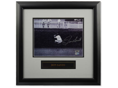 Chicago Cubs Ron Santo Autographed Heel Click 8x10 Framed Photograph