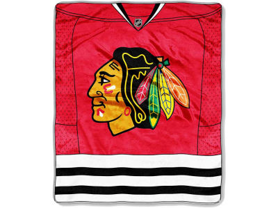 Chicago Blackhawks 50x60in Plush Throw Jersey
