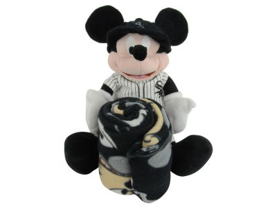 Chicago White Sox MLB Mickey Mouse Plush & Blanket Set: 40x50 Fleece
