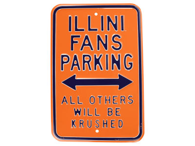 Illinois Fighting Illini Parking Sign