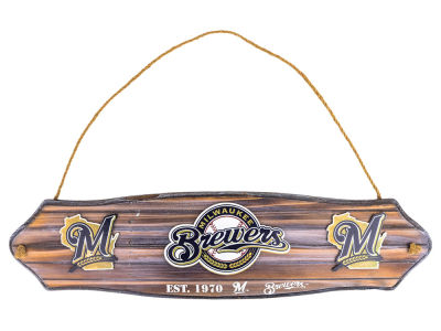 Milwaukee Brewers MLB Wooden Garden Sign
