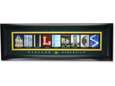 Oakland Athletics MLB Letter Art