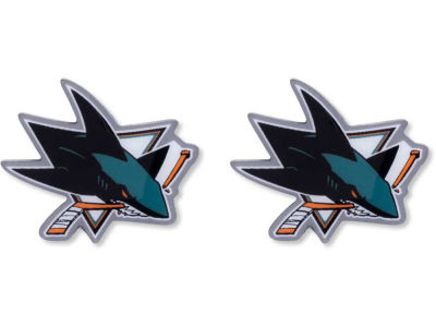 San Jose Sharks Logo Post Earrings