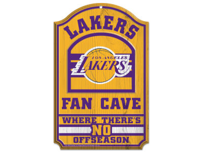 Los Angeles Lakers 11x17 Wood Sign