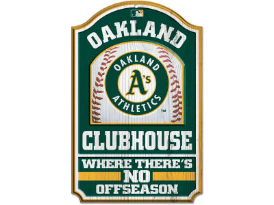 Oakland Athletics 11x17 Wood Sign