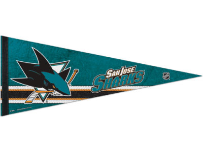 San Jose Sharks 12x30in Pennant