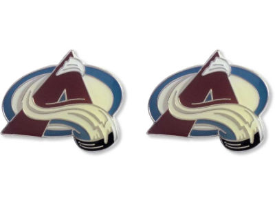 Colorado Avalanche Logo Post Earrings