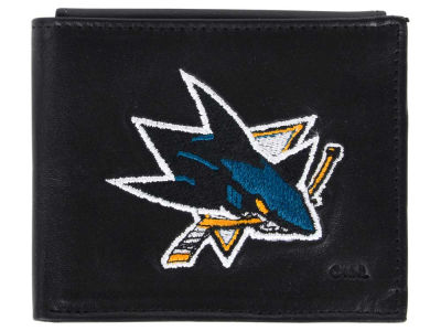 San Jose Sharks Black Bifold Wallet