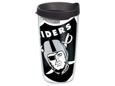 Oakland Raiders 16oz. Colossal Wrap Tumbler with Lid