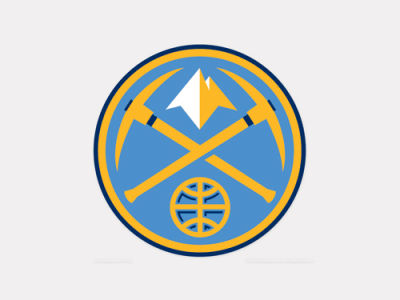 Denver Nuggets 4x4 Die Cut Decal Color