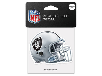 Oakland Raiders 4x4 Die Cut Decal Color