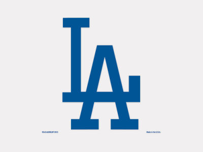 Los Angeles Dodgers 4x4 Die Cut Decal Color