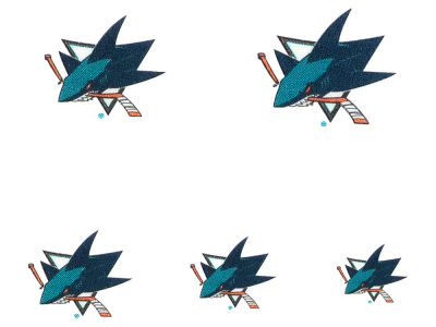 San Jose Sharks Wincraft Tattoo Nail