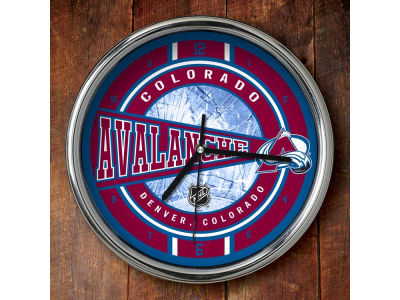 Colorado Avalanche Chrome Clock