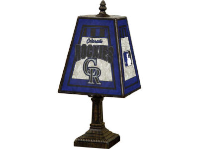 Colorado Rockies Art Glass Table Lamp