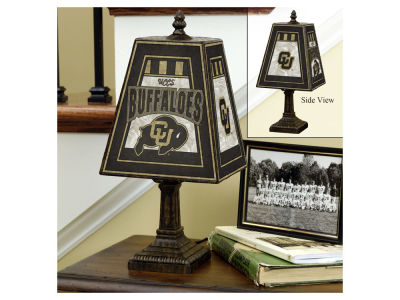 Colorado Buffaloes Art Glass Table Lamp