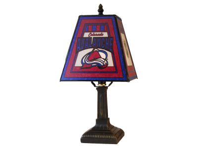 Colorado Avalanche Art Glass Table Lamp