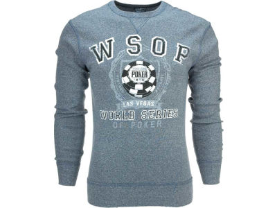World Series Of Poker WSOP Owen Long Sleeve Heathered Crew