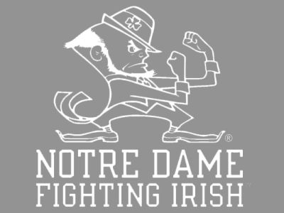 "Notre Dame Fighting Irish Die Cut Decal 8""x8"""