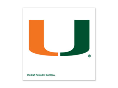 Miami Hurricanes Tattoo 4-pack