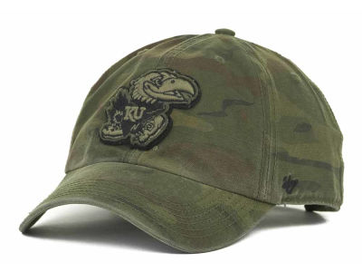Kansas Jayhawks '47 NCAA Operation Hat Trick Movement '47 CLEAN UP Cap